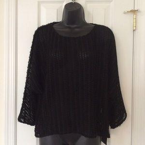 Zara Basic 3/4 Sleeve Mesh Dolman Top